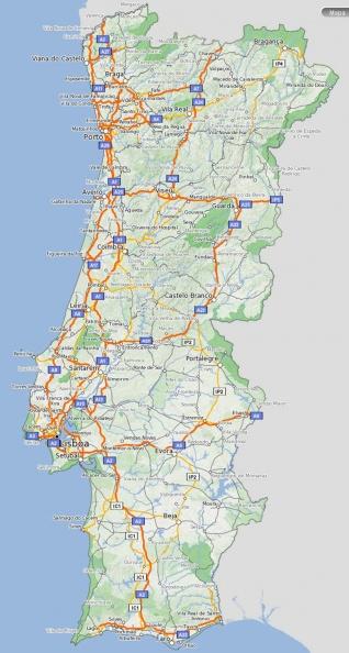 mapa de portugal estradas mapa estradas Portugal   Portal das Bibliotecas   Galeria Fotográfica mapa de portugal estradas